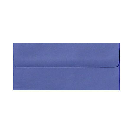 "LUX Envelopes With Peel & Press Closure, #10, 4 1/8"" x 9 1/2"", Boardwalk Blue, Pack Of 500"