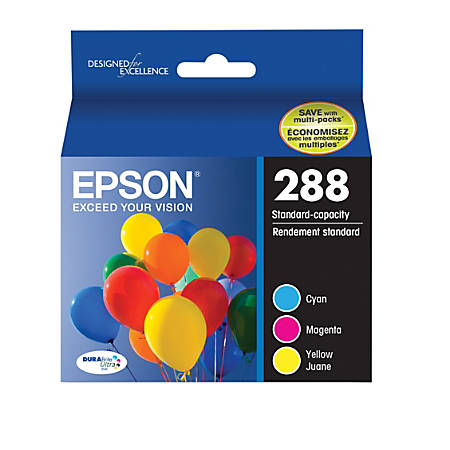 Epson® DURABrite® Ultra Cyan/Magenta/Yellow Ink Cartridges (T288520-S)