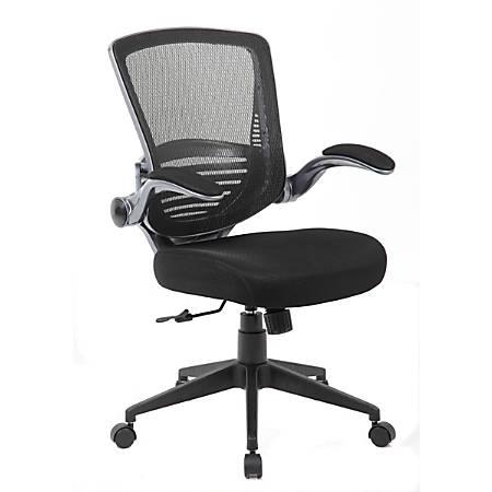 Boss Contemporary Mesh Mid-Back Task Chair, Black/Black