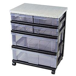 Iris 6 Drawer Medium Wide Storage System 26 5 8