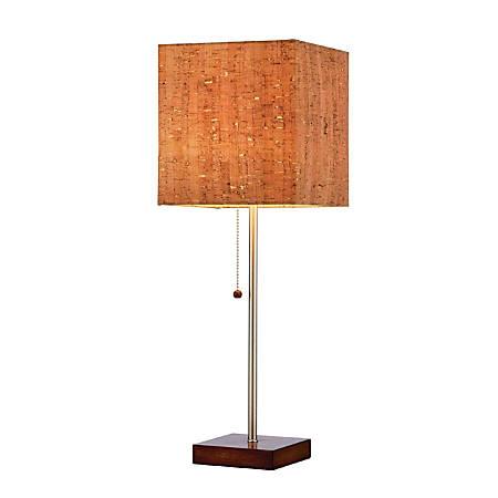 """Adesso® Sedona Table Lamp, 21 1/2""""H, Natural Shade/Steel Base"""