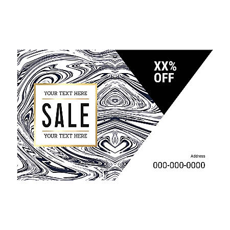 Window Decal Template, Black And White Wood, Horizontal