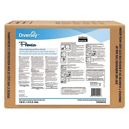 Diversey™ Premia® UHS Floor Finish, 640 Oz Envirobox, Clear
