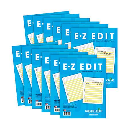 Barker Creek® E-Z Edit Paper Set, Grades 1-College, 50 Sheets, Pack Of 12