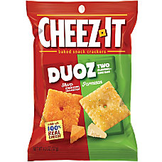 Keebler Cheez It Duoz CheddarParmesan Crackers