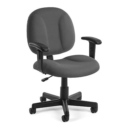 OFM Comfort Series Superchair Mid-Back Task Chair, Gray/Black