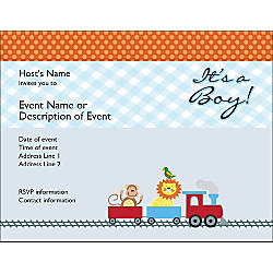 Custom Baby Announcements 5 12 x