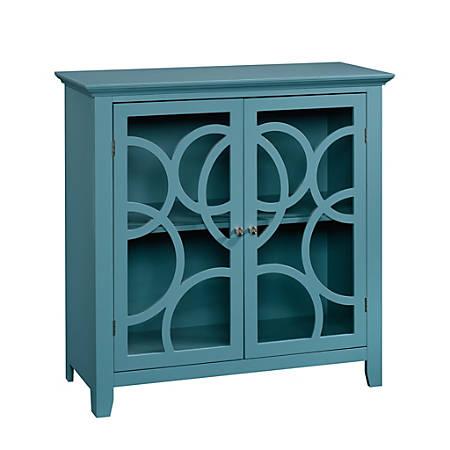 Sauder® Shoal Creek Elise Display Cabinet, Moody Blue