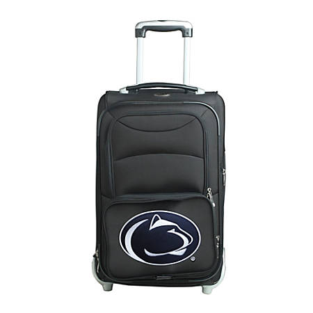"Denco Sports Luggage NCAA Expandable Rolling Carry-On, 20 1/2"" x 12 1/2"" x 8"", Penn State Nittany Lions, Black"