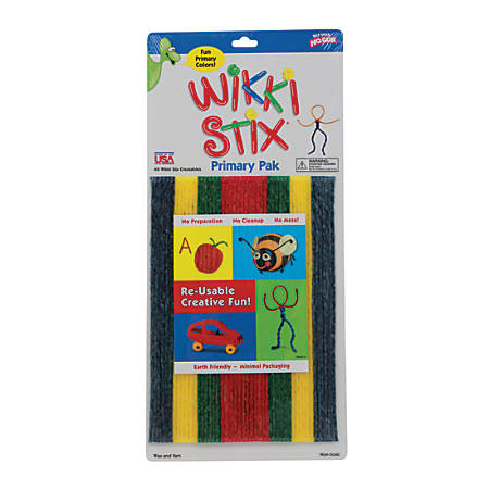 "Wikki Stix® Original Wikki Stix, 8"", Assorted Primary Colors, Pack Of 48"