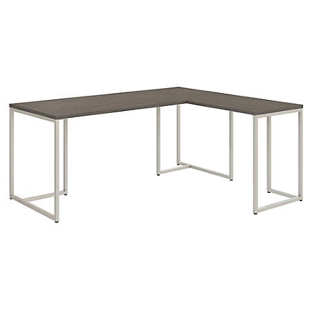 """kathy ireland® Office by Bush Business Furniture Method 72""""W L Shaped Desk with 30""""W Return, Cocoa, Premium Installation"""