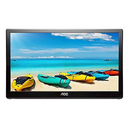 "AOC 15.6"" USB-Powered 1080p Full HD LCD Monitor, I1659FWUX"
