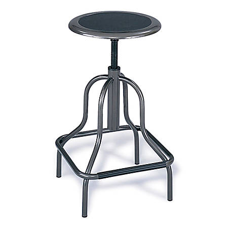 Safco® Diesel Series High-Base Stool Without Back, Pewter Frame, Pewter Fabric