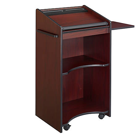 Safco® Executive Mobile Lectern, Mahogany