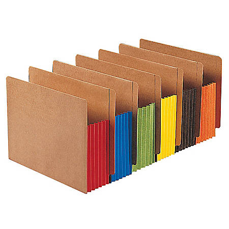 Smead® Expansion File Pockets, Letter Size, Redrope, Box Of 10