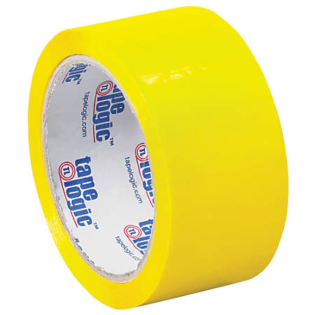 """Tape Logic® Carton-Sealing Tape, 3"""" Core, 2"""" x 55 Yd., Yellow, Pack Of 6"""