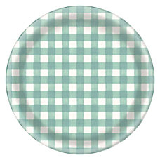Amscan Melamine Fall Checkered Chargers 13