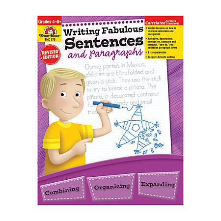 Evan-Moor® Writing Fabulous Sentences And Paragraphs, Grades 4-6
