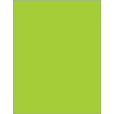 "Office Depot® Brand Labels, LL185GN, Rectangle, 8 1/2"" x 11"", Fluorescent Green, Case Of 100"