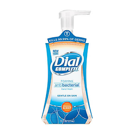 Dial Complete Foaming Hand Wash - 7.5 fl oz (221.8 mL) - Pump Bottle Dispenser - Kill Germs - Hand - Amber - Hypoallergenic - 8 / Carton