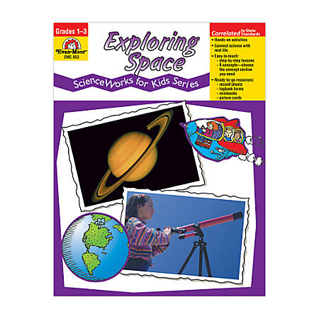 Evan-Moor® ScienceWorks For Kids, Exploring Space, Grades 1-3