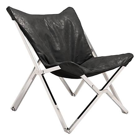 Zuo Modern Sunk Chair, Black/Chrome
