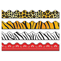 Carson Dellosa Scalloped Borders Sets Leopard