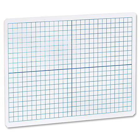 "Flipside Grid/Plain 2side DryErase Lap Board - 12"" (1 ft) Width x 9"" (0.8 ft) Height - White Surface - Rectangle - Portable - 1 Each"