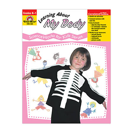 Evan-Moor® ScienceWorks For Kids, Learning About My Body, Grades K-1