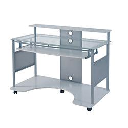 Z Line Designs Mobile Workstation Desk White