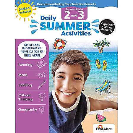 Evan-Moor® Daily Summer Activities, Moving From 2nd To 3rd Grade