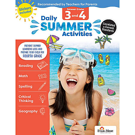 Evan-Moor® Daily Summer Activities, Moving From 3rd To 4th Grade