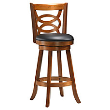 Monarch Specialties Amelia Barstools BlackDark Oak