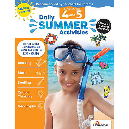 Evan-Moor® Daily Summer Activities, Moving From 4th To 5th Grade