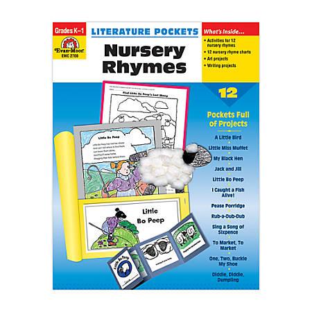 Evan-Moor® Literature Pockets, Primary, Nursery Rhymes, Grades K-1