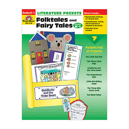 Evan-Moor® Literature Pockets, Primary, Folktales & Fairy Tales, Grades K-1