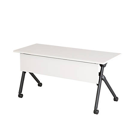 "Safco® Tango™ Nesting Table, Rectangle, 60""H, Designer White/Black"
