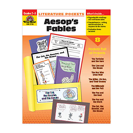 Evan-Moor® Literature Pockets, Primary, Aesop's Fables, Grades 2-3