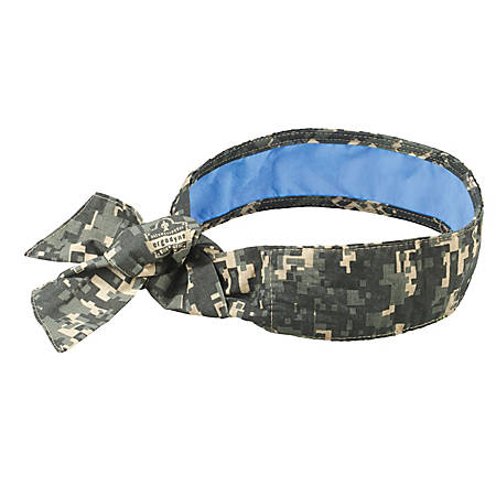 Ergodyne Chill-Its 6700CT Evaporative Cooling Tie Bandanas With Cooling  Towel, Camo, Pack Of 6 Bandanas Item # 6568861