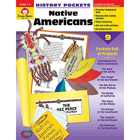 Evan-Moor® History Pockets, Native Americans, Grades 1-3