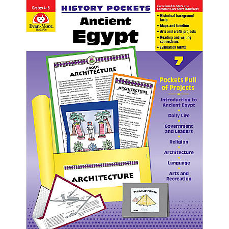 Evan-Moor® History Pockets, Ancient Egypt, Grades 4-6