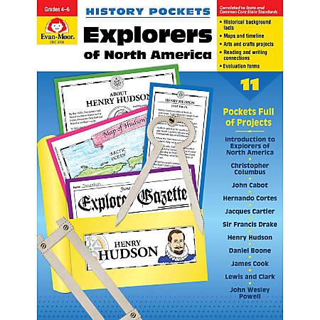 Evan-Moor® History Pockets, Explorers Of North America, Grades 4-6