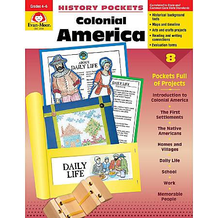 Evan-Moor® History Pockets, Colonial America, Grades 4-6