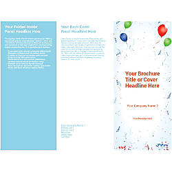 Customizable Trifold Brochure Balloon Background