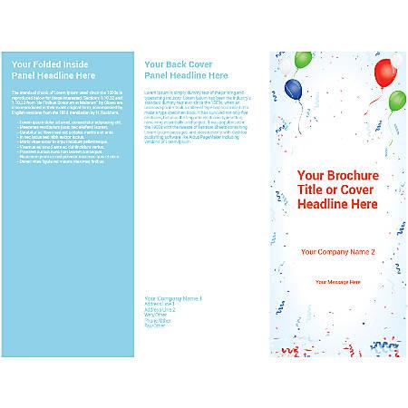 Customizable Trifold Brochure, Balloon Background