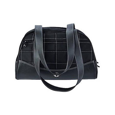 Sumo Duffel - Medium - duffle bag - ballistic nylon, faux leather - black with white stitching