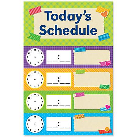 Scholastic Teacher's Friend Tape It Up! Schedule Mini Bulletin Board Set, Pre-K To Grade 6