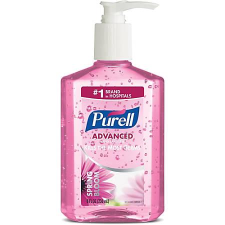 PURELL® Scented Instant Hand Sanitizer - Spring Bloom Scent - 8 fl oz (236.6 mL) - Pump Bottle Dispenser - Kill Germs - Hand - Moisturizing, Residue-free - 12 / Carton