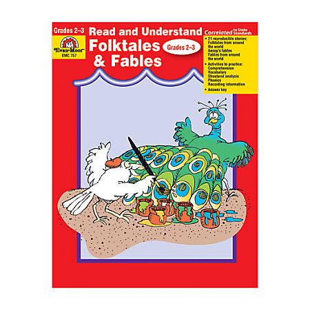 Evan-Moor® Read And Understand Literature Genres, Folktales & Fables, Grades 2-3
