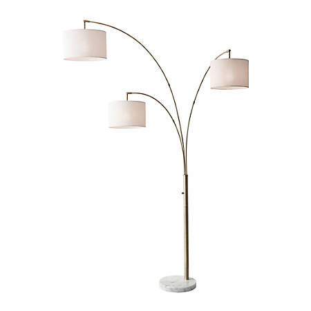 Adesso Bowery 3 Arm Arc Floor Lamp 83 H Off